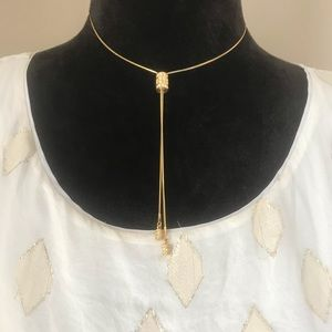 lia Sophia adjustable gold necklace